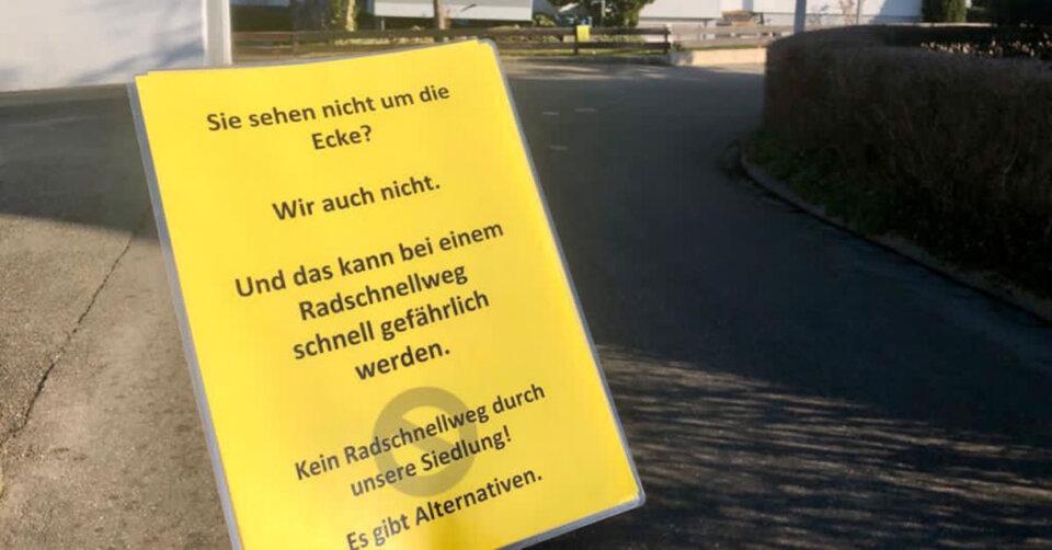 Anwohner äußern Bedenken zur geplanten Streckenführung des Radschnellweges