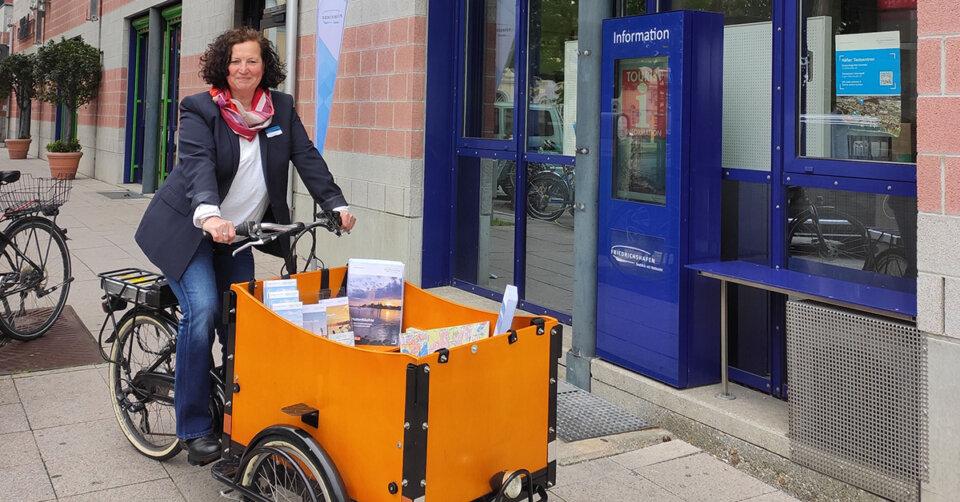 Premiere am Samstag: Mobile Tourist-Info mit dem Lastenrad unterwegs