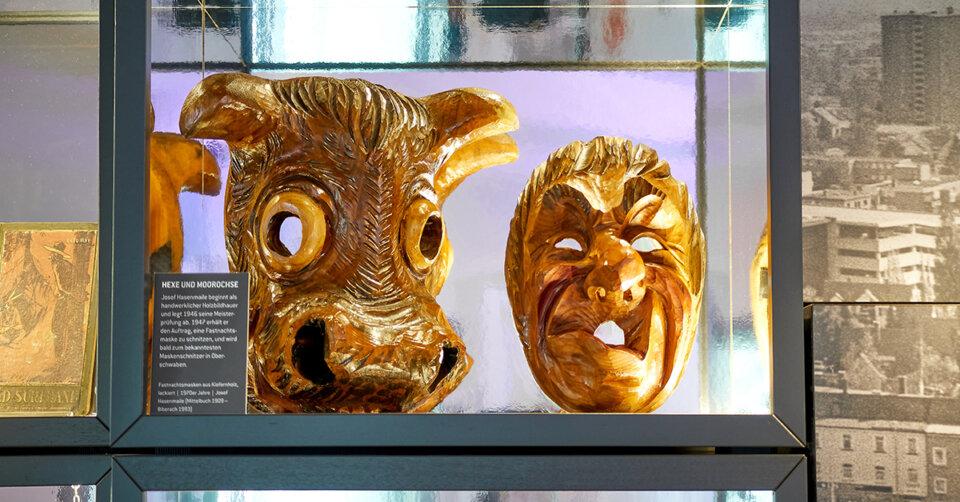 Neu im Museum Biberach: Fasnachtsmasken von Josef Hasenmaile