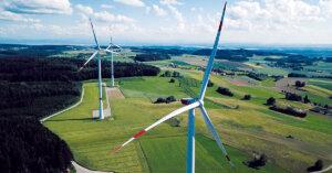 Der Windpark Hilpensberg im Landkreis Überlingen