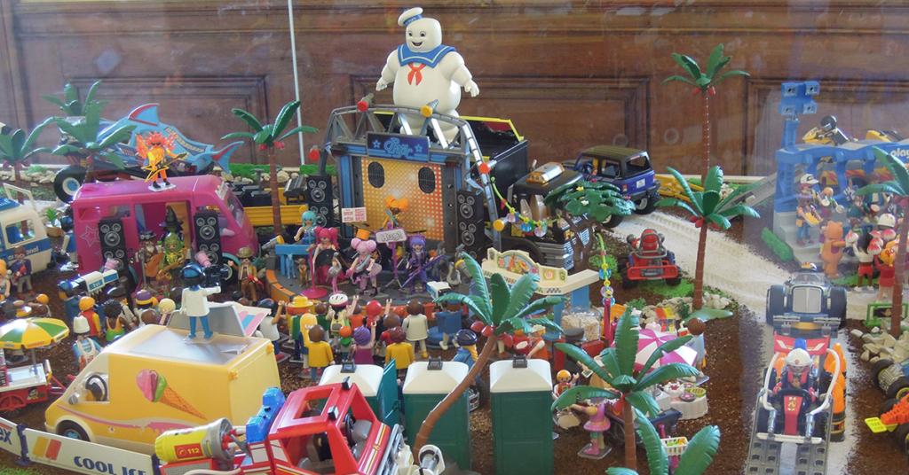 Ein Playmobil Konzert - über 50.000 Teile wurden für die gesamte Ausstellung aufgebaut.
