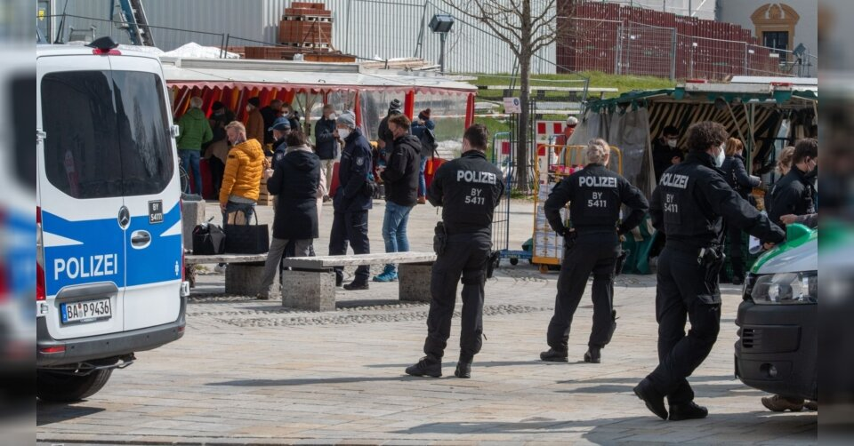 Polizei kontrolliert Demo-Verbote in Kempten