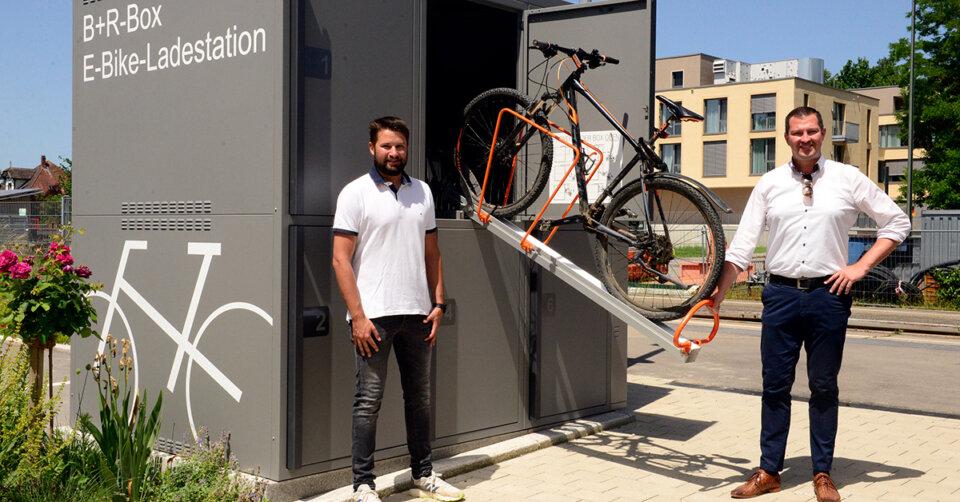 """Bike and Ride"" Boxen am Bahnhof"