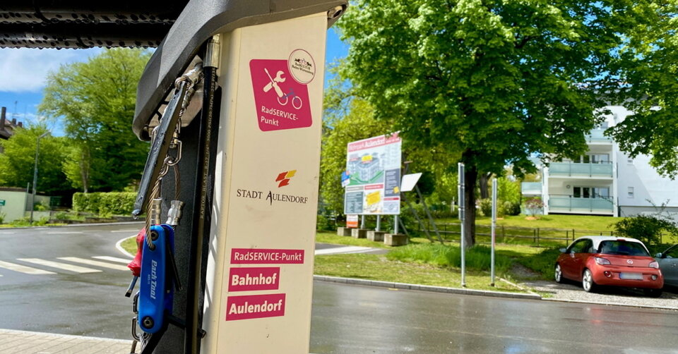 Schon entdeckt?! Radservice-Station am Bahnhof Aulendorf