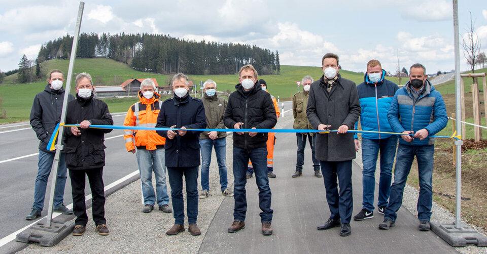 Radweg Hinznang-Frauenzell offiziell freigegeben