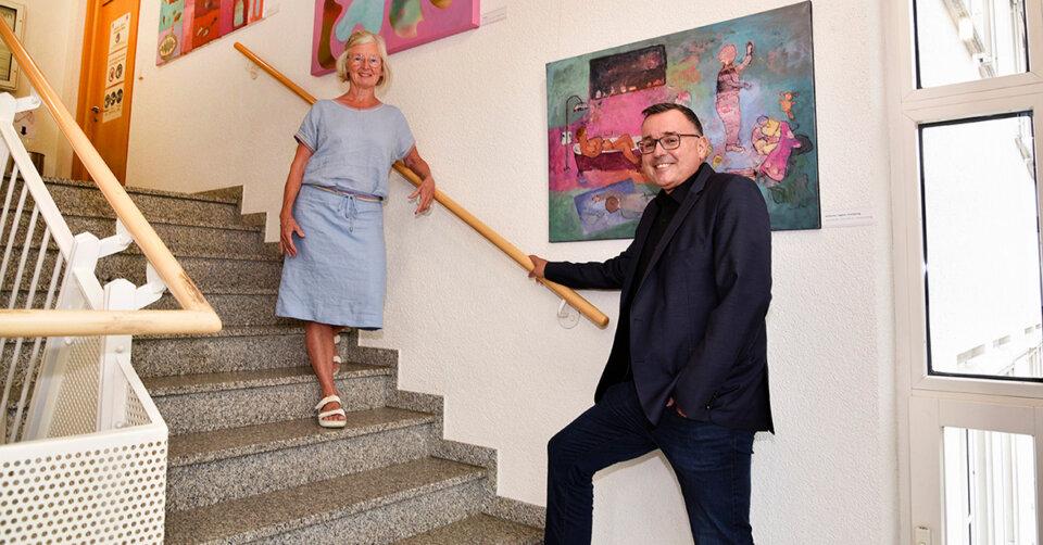 Kordula Schillig zeigt Malerei in der Rathausgalerie Kluftern