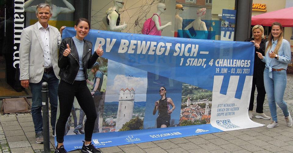"""1 Stadt – 4 Challenges: """"Ravensburg bewegt sich"""" – einfach mitmachen, Spaß haben und vom 19. Juni bis 3. Juli vielleicht auch gewinnen"""