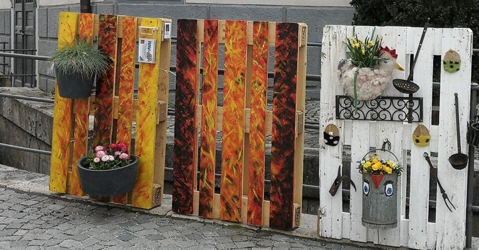 Ein Hingucker: RAVletten – Paletten-Kunst in Ravensburg