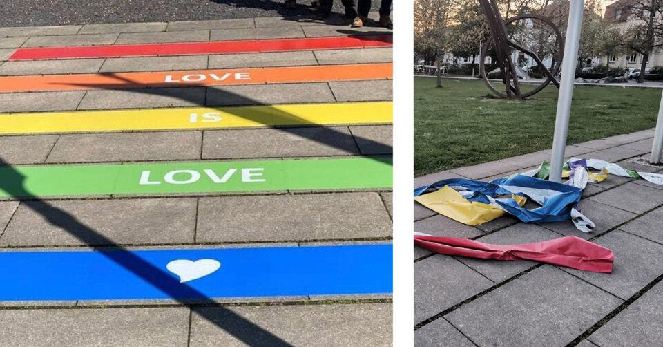 """""""Love is Love"""": Regenbogen in Weingarten zerstört"""