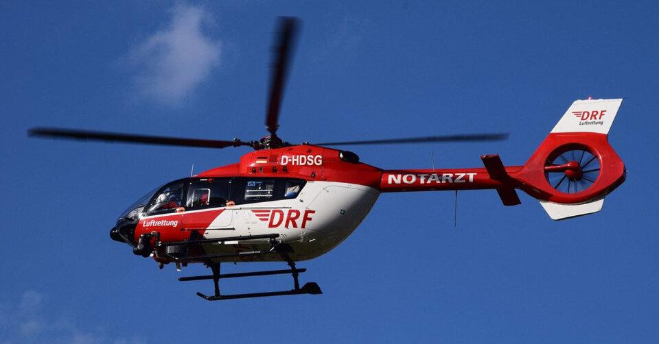 Mit Rettungshubschrauber ins Krankenhaus: 26-Jähriger bei Verkehrsunfall schwer verletzt