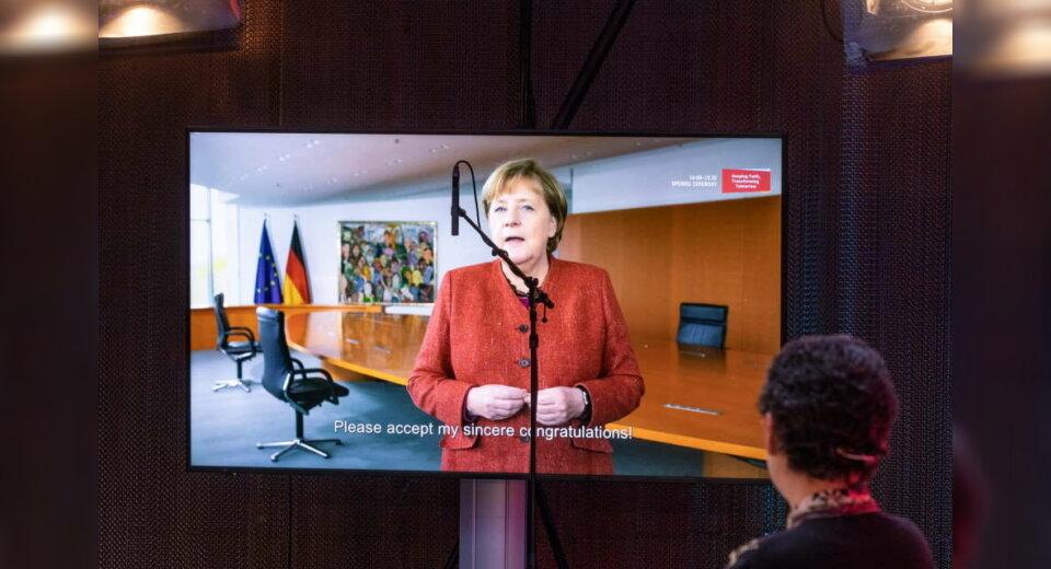 Bundeskanzlerin Merkel eröffnet mit einem Grußwort die 1. Assembly on Women, Faith & Diplomacy