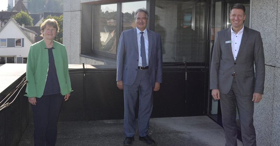 Nachhaltige Versorgung im Gesundheitswesen: MdB Josef Rief zu Besuch bei der AOK Ulm-Biberach