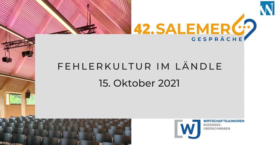 """42. Salemer Gespräche: Thema """"Fehlerkultur im Ländle"""""""
