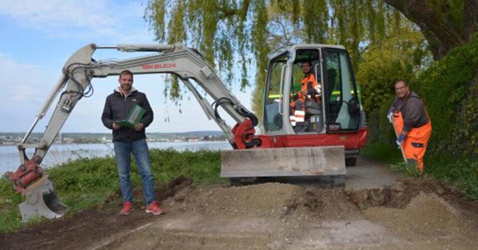 Bodendecke für Teile des Seeuferweges erneuert