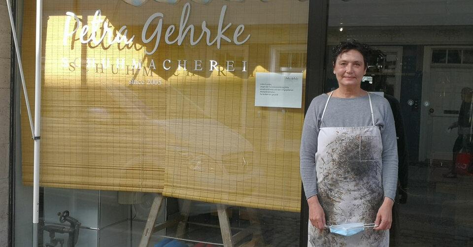 So geht es nicht mehr weiter: Petra Gehrke aus Ravensburg öffnet am 2. März ihre Schuhmacherei