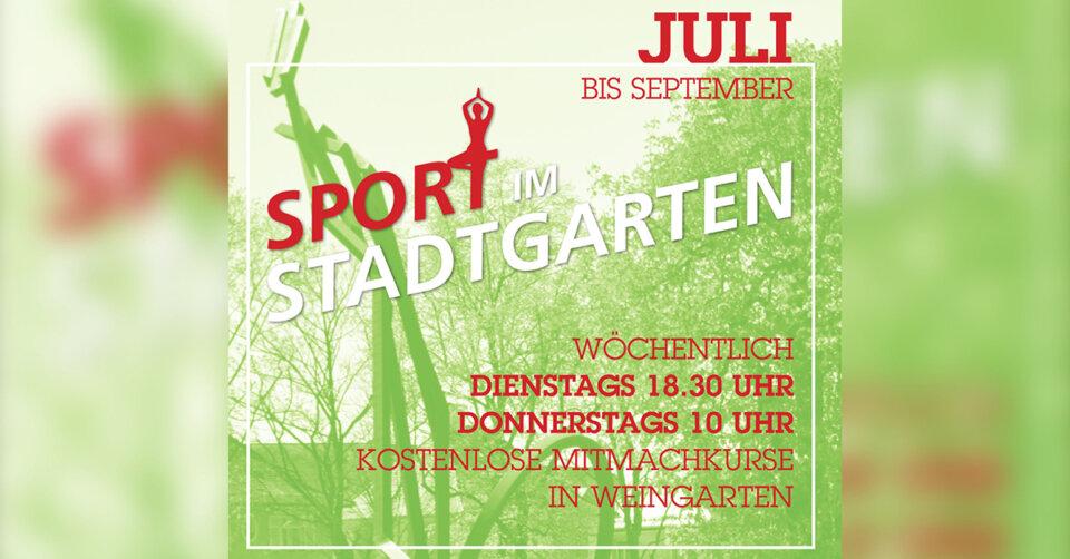 """Sport im Stadtgarten"""" lädt ein"""