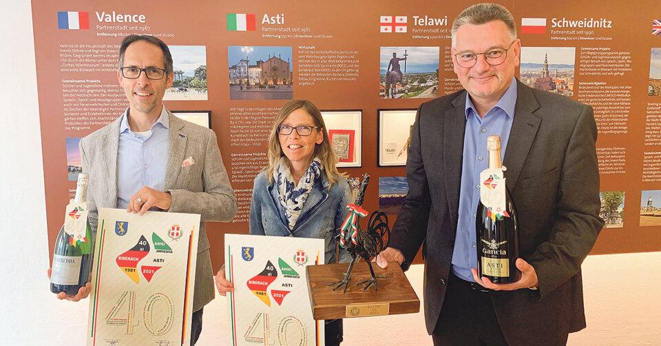 40 Jahre Städtepartnerschaft Biberach-Asti: Bürgermeister Rasero gratuliert