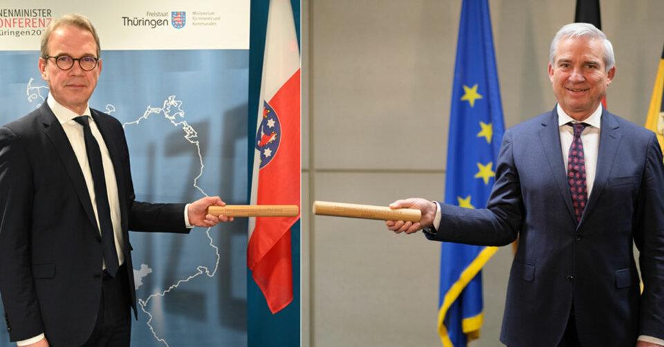 Vorsitz der Innenministerkonferenz geht von Thüringen auf Baden-Württemberg über – Symbolische Übergabe des Staffelstabs in virtueller Form