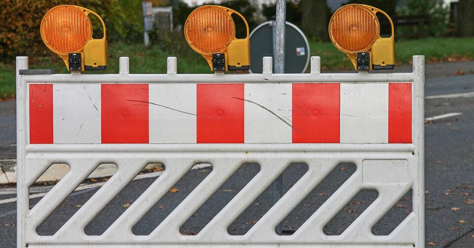 Die Kreisstraße 5909 ist aufgrund eines Brücken-Neubaus gesperrt