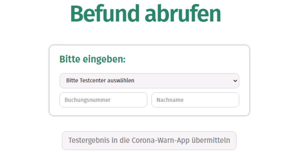 Testergebnis direkt in der Corona-Warn-App registrieren