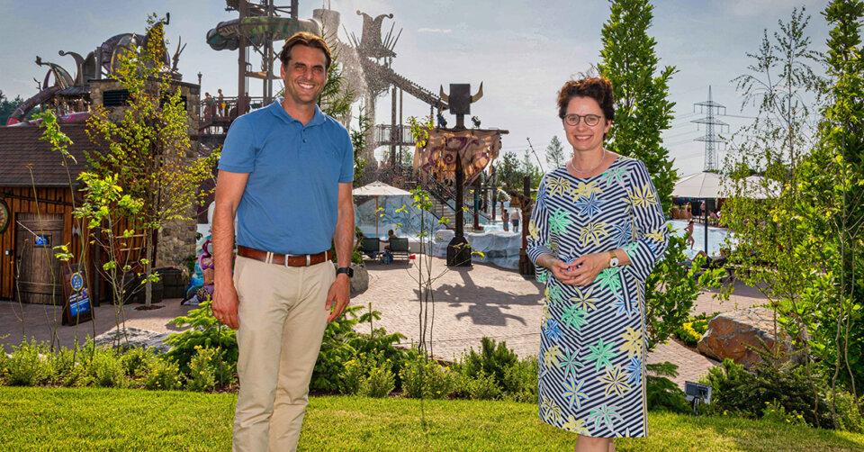 Landesjustizministerin Marion Gentges zu Besuch in Rulantica