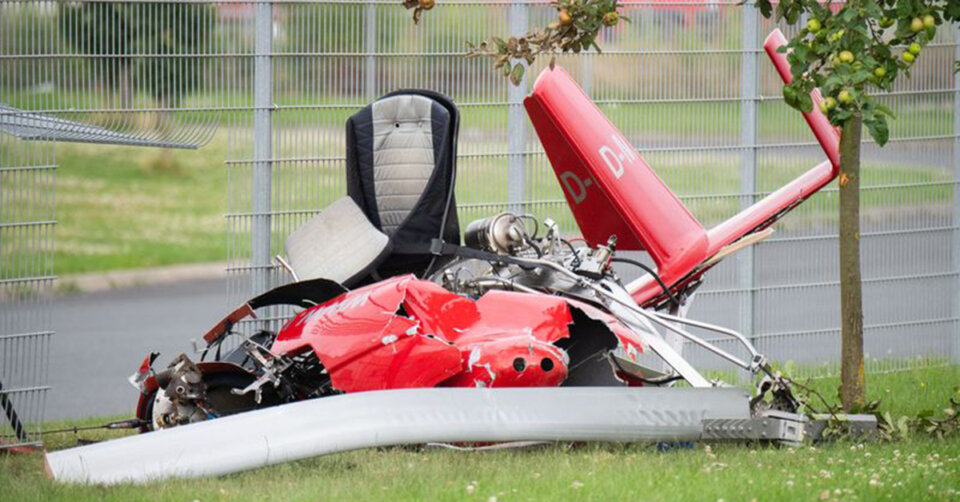 Zwei Tote bei Tragschrauber-Absturz in Hildesheim