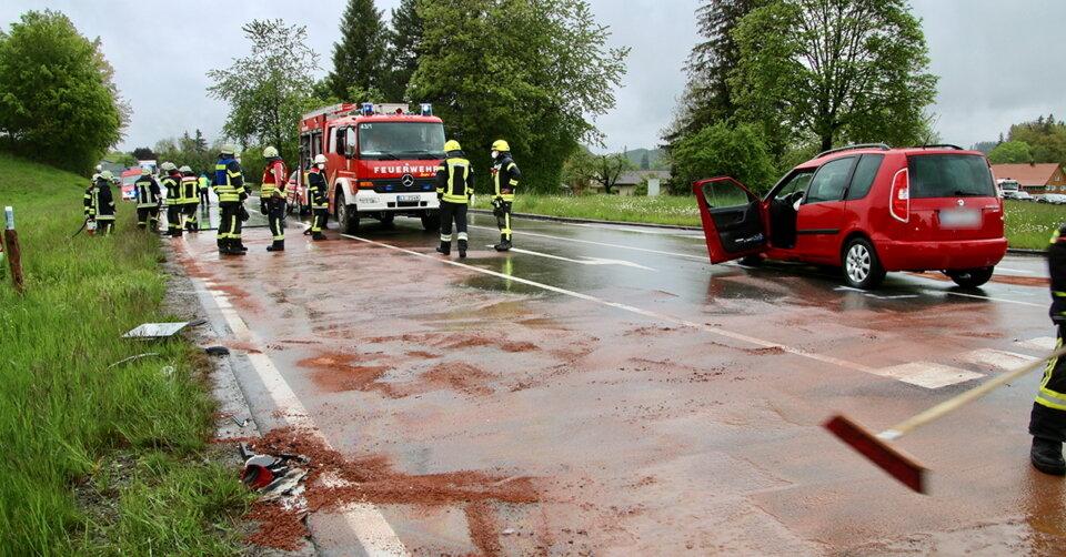 Schwerer Verkehrsunfall auf der B 12 im Landkreis Lindau