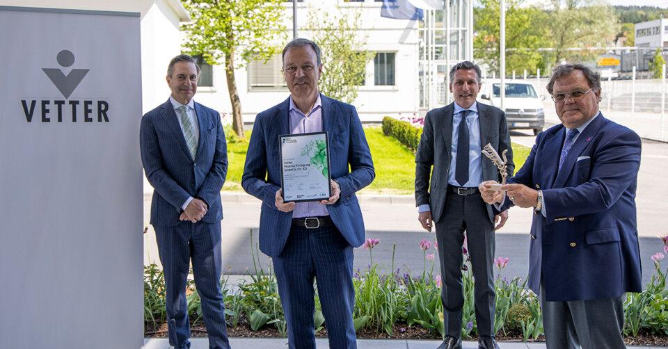 Vetter gewinnt erneut internationalen Preis für seine Unternehmensführung