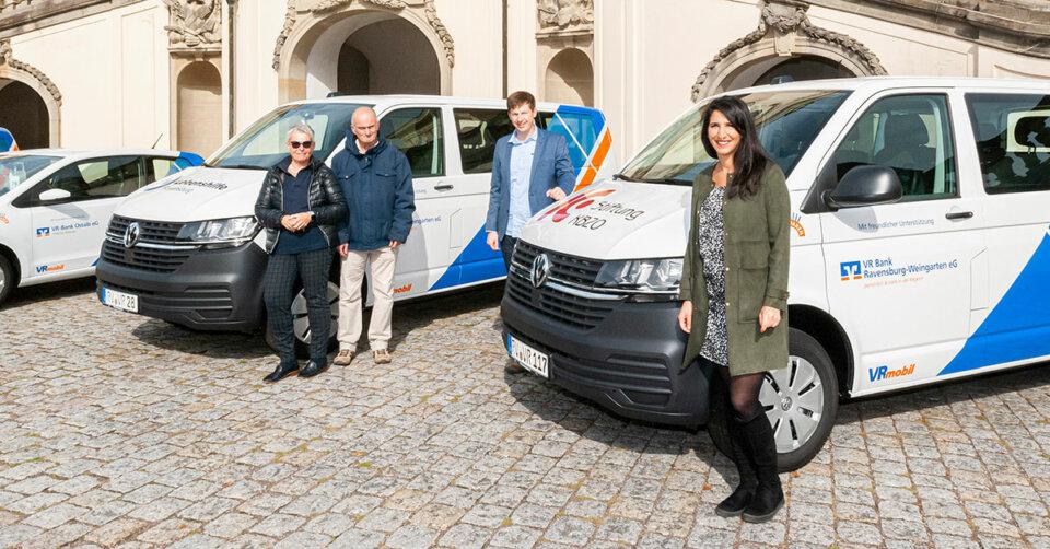 VR Bank Ravensburg-Weingarten eG spendet Mobilität für soziale Einrichtungen und Vereine