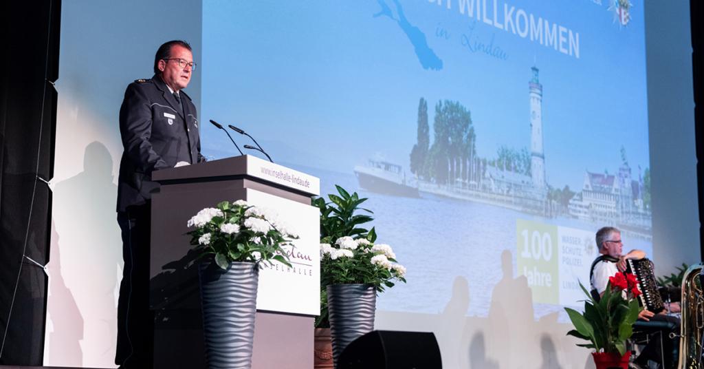 Zum runden Jubiläum sprach auch der Präsident der Polizeichef-Vereinigung Bodensee, Uwe Stürmer.