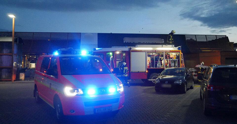 Brand bei Fast-Food Restaurant in Weingarten