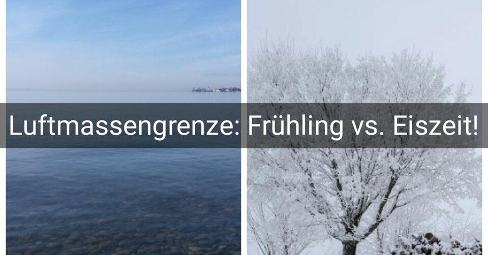 """Extremwetter am Wochenende: Frühling im Süden – historische """"Eiszeit"""" im Norden!"""