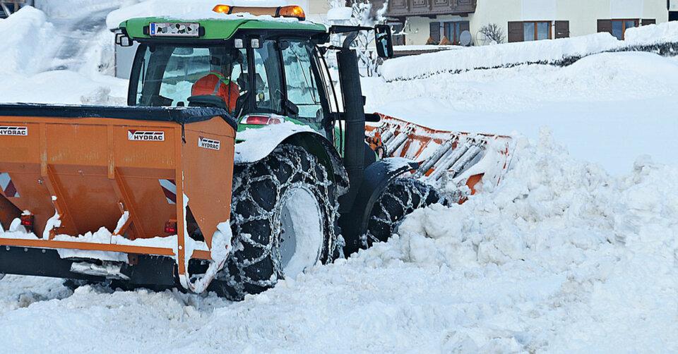 Winterdienst im Rennerle und der Grenzsiedlung kaum möglich