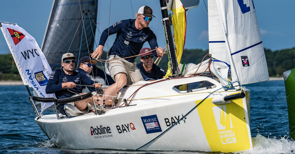 Segel-Bundesliga: WYC-Crew segelt in Kiel auf Rang sieben