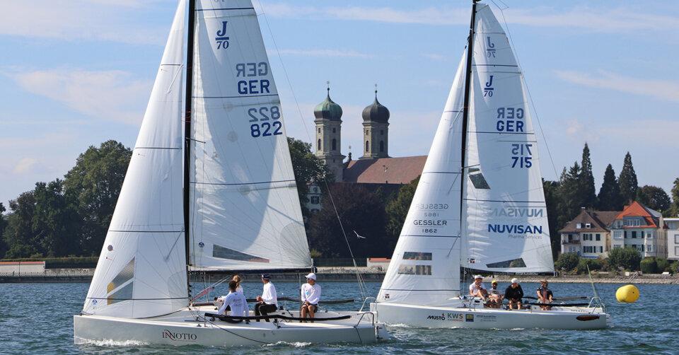 """Traumhafte Bedingungen bei der """"Interboot-Trophy"""": Heimsieg für das Rieger-Team bei der J70-Regatta des WYC"""