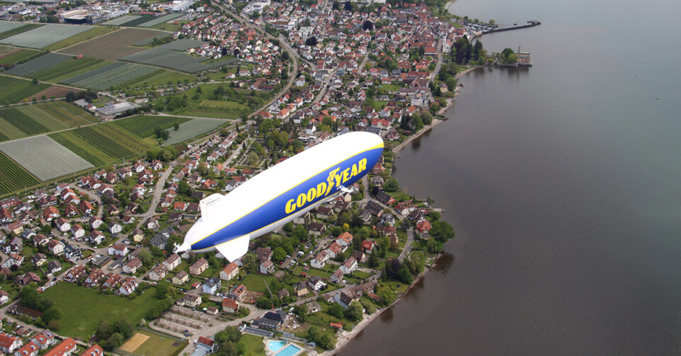 Bereit zum Abflug: Ab Freitag schwebt der Zeppelin wieder über unsere Region