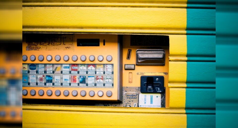 Aufbruch eines Zigarettenautomaten