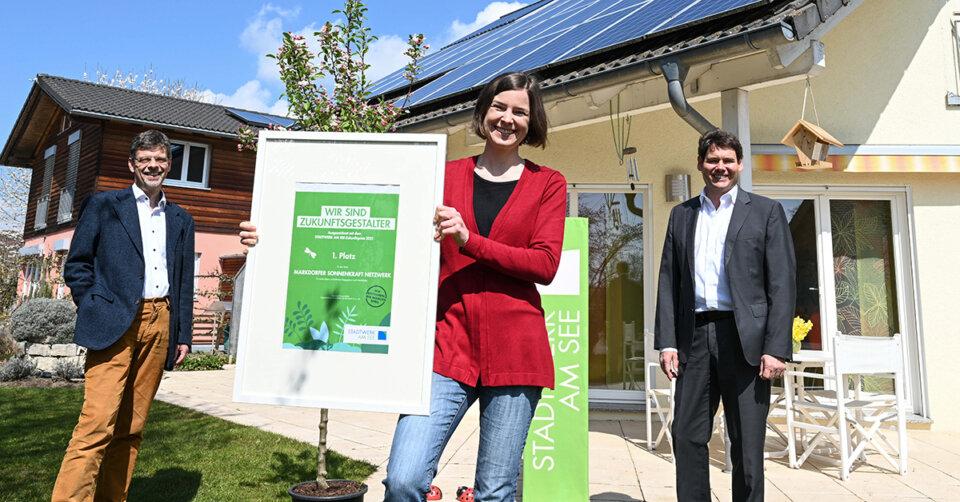 Stadtwerk-Zukunftspreis geht an Markdorfer Sonnenkraft-Netzwerk