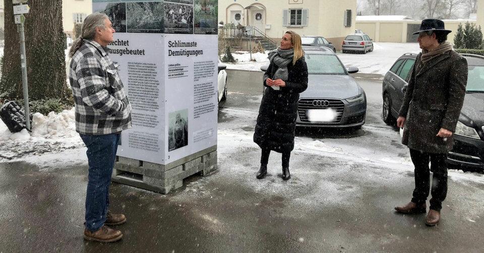Zur Arbeit in der Fremde gezwungen – Gedenksäule erinnert an Zwangsarbeiter:innen in Lindau während der NS-Zeit