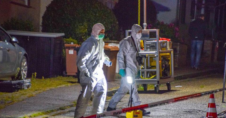 Zwei Menschen niedergestochen: Verdächtigen angeschossen